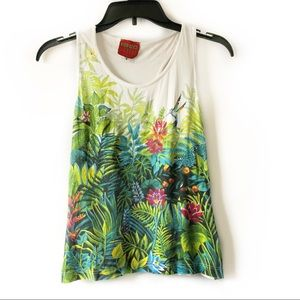 Kenzo Jungle Floral Tree Print Tank Top